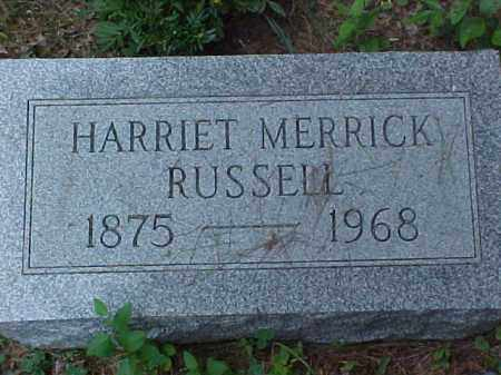 RUSSELL, HARRIET - Meigs County, Ohio | HARRIET RUSSELL - Ohio Gravestone Photos