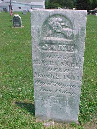 RUSSELL, JANE - Meigs County, Ohio | JANE RUSSELL - Ohio Gravestone Photos