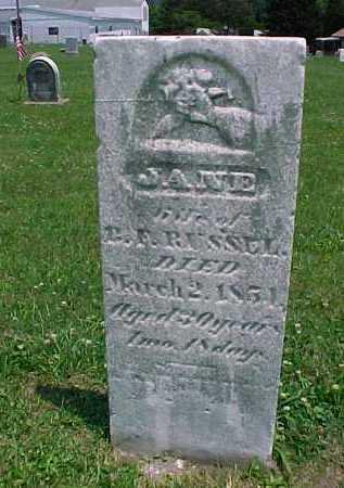 RUSSELL, JANE - Meigs County, Ohio | JANE RUSSELL - Ohio Gravestone Photos