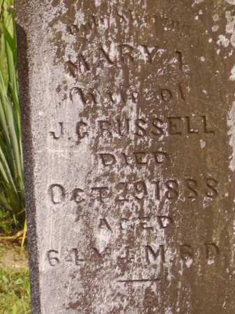 RUSSELL, MARY A. - Meigs County, Ohio | MARY A. RUSSELL - Ohio Gravestone Photos