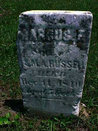 RUSSELL, MARCUS F, - Meigs County, Ohio | MARCUS F, RUSSELL - Ohio Gravestone Photos