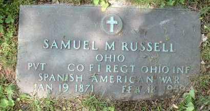 RUSSELL, SAMUEL M. - Meigs County, Ohio | SAMUEL M. RUSSELL - Ohio Gravestone Photos