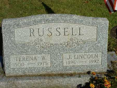 RUSSELL, TERENA W. - Meigs County, Ohio | TERENA W. RUSSELL - Ohio Gravestone Photos
