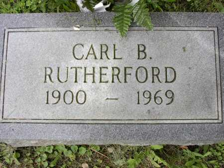 RUTHERFORD, CARL B. - Meigs County, Ohio   CARL B. RUTHERFORD - Ohio Gravestone Photos