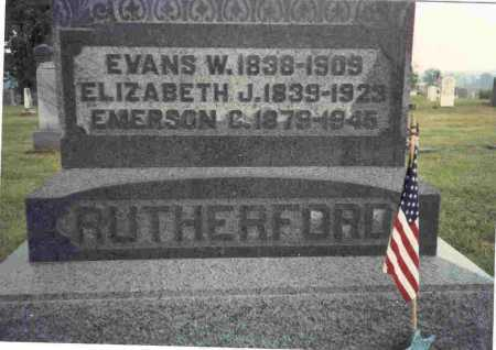 RUTHERFORD, EMERSON C. - Meigs County, Ohio | EMERSON C. RUTHERFORD - Ohio Gravestone Photos