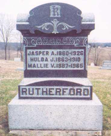 RUTHERFORD, JASPER A. - Meigs County, Ohio   JASPER A. RUTHERFORD - Ohio Gravestone Photos