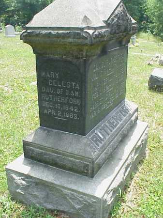 RUTHERFORD, MARY CELESTA - Meigs County, Ohio   MARY CELESTA RUTHERFORD - Ohio Gravestone Photos