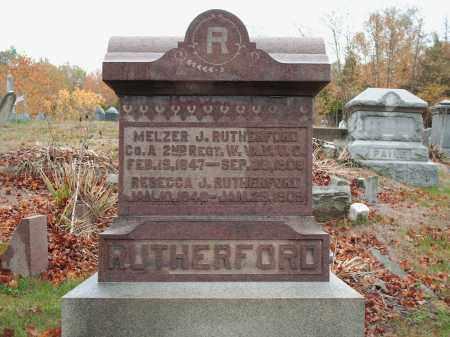 RUTHERFORD, MELZER J - Meigs County, Ohio | MELZER J RUTHERFORD - Ohio Gravestone Photos