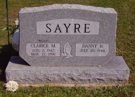 "SAYRE, CLARICE MARGARET ""PEGGY"" - FRONT OF STONE - Meigs County, Ohio | CLARICE MARGARET ""PEGGY"" - FRONT OF STONE SAYRE - Ohio Gravestone Photos"