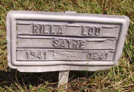 SAYRE, RILLA LOU - Meigs County, Ohio | RILLA LOU SAYRE - Ohio Gravestone Photos