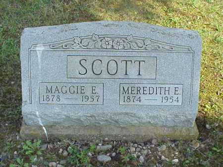 BAILEY SCOTT, MAGGIE E. - Meigs County, Ohio   MAGGIE E. BAILEY SCOTT - Ohio Gravestone Photos