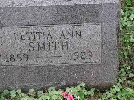 SMITH, LETITIA ANN - Meigs County, Ohio   LETITIA ANN SMITH - Ohio Gravestone Photos