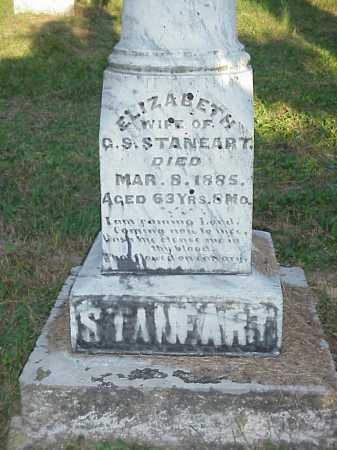 STANEART, ELIZABETH - Meigs County, Ohio   ELIZABETH STANEART - Ohio Gravestone Photos