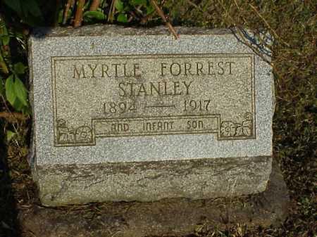 FORREST STANLEY, MYRTLE - Meigs County, Ohio | MYRTLE FORREST STANLEY - Ohio Gravestone Photos