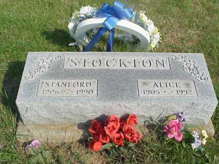 STOCKTON, ALICE - Meigs County, Ohio | ALICE STOCKTON - Ohio Gravestone Photos