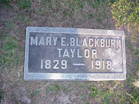 BLACKBURN TAYLOR, MARY E. - Meigs County, Ohio   MARY E. BLACKBURN TAYLOR - Ohio Gravestone Photos
