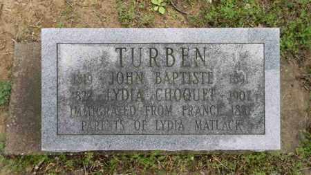 TURBEN, LYDIA - Meigs County, Ohio | LYDIA TURBEN - Ohio Gravestone Photos