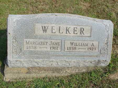 WELKER, MARGARET JANE - Meigs County, Ohio   MARGARET JANE WELKER - Ohio Gravestone Photos