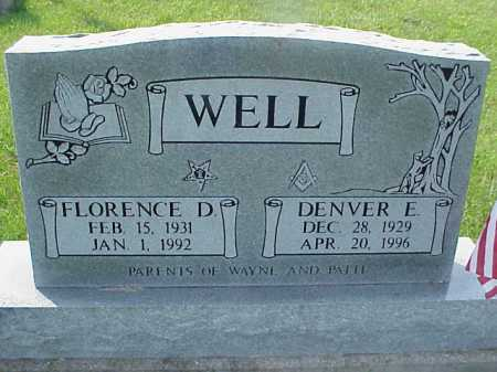 WELL, FLORENCE D. - Meigs County, Ohio | FLORENCE D. WELL - Ohio Gravestone Photos