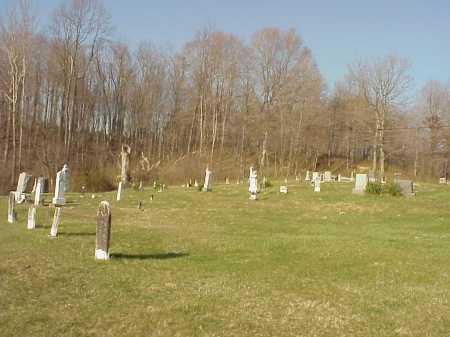 WHITE OAK CEMETERY VIEW, BEDFORD TWP. - Meigs County, Ohio   BEDFORD TWP. WHITE OAK CEMETERY VIEW - Ohio Gravestone Photos