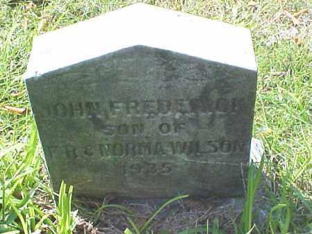 WILSON, JOHN FREDERICK - Meigs County, Ohio   JOHN FREDERICK WILSON - Ohio Gravestone Photos