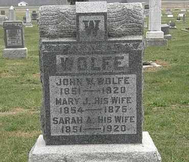 WOLFE, JOHN W. - Meigs County, Ohio | JOHN W. WOLFE - Ohio Gravestone Photos