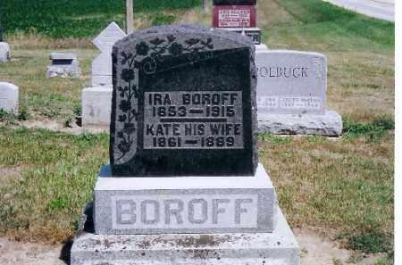 BOROFF, KATE - Mercer County, Ohio | KATE BOROFF - Ohio Gravestone Photos