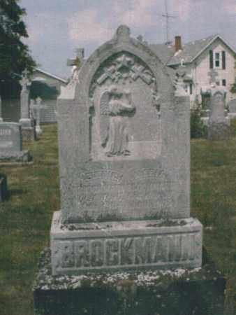 WILL BROCKMAN, MARIA - Mercer County, Ohio | MARIA WILL BROCKMAN - Ohio Gravestone Photos