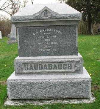 RAUDABAUGH, G.W. - Mercer County, Ohio | G.W. RAUDABAUGH - Ohio Gravestone Photos