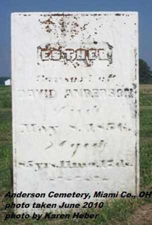 ANDERSON, ESTHER - Miami County, Ohio | ESTHER ANDERSON - Ohio Gravestone Photos