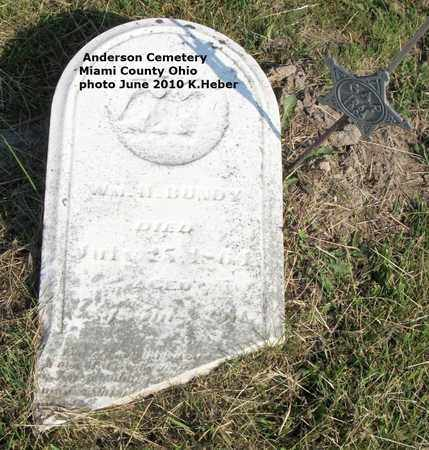 BUNDY, JR, WILLIAM H - Miami County, Ohio | WILLIAM H BUNDY, JR - Ohio Gravestone Photos