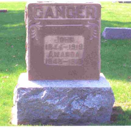 GANGER, AMANDA - Miami County, Ohio   AMANDA GANGER - Ohio Gravestone Photos