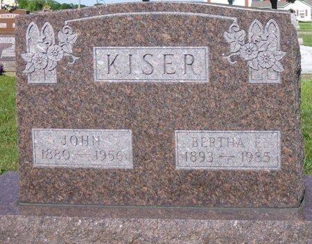 KISER, BERTHA E - Miami County, Ohio | BERTHA E KISER - Ohio Gravestone Photos