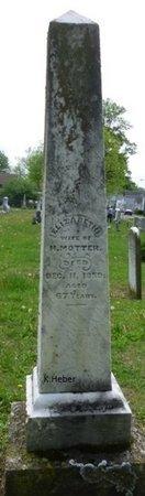 MOTTER, ELIZABETH - Miami County, Ohio   ELIZABETH MOTTER - Ohio Gravestone Photos
