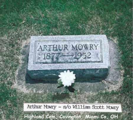 MOWRY, ARTHUR - Miami County, Ohio | ARTHUR MOWRY - Ohio Gravestone Photos