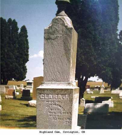 MOWRY, CLARA - Miami County, Ohio   CLARA MOWRY - Ohio Gravestone Photos