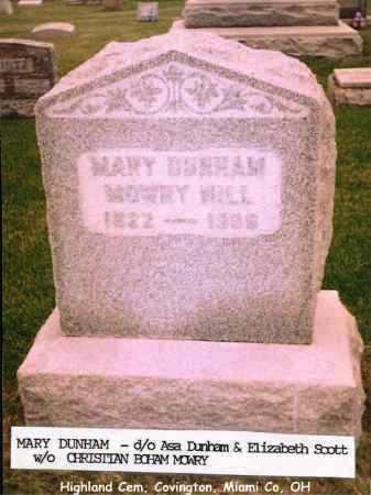 DUNHAM MOWRY, MARY - Miami County, Ohio | MARY DUNHAM MOWRY - Ohio Gravestone Photos