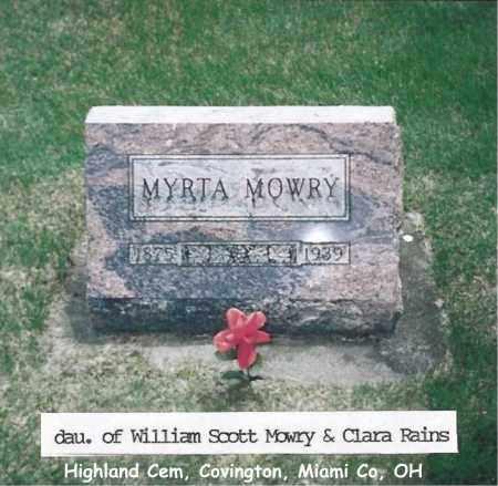 MOWRY, MYRTA - Miami County, Ohio   MYRTA MOWRY - Ohio Gravestone Photos