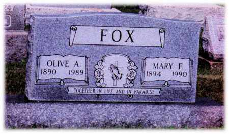 FOX, MARY - Monroe County, Ohio   MARY FOX - Ohio Gravestone Photos