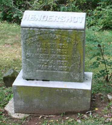 HENDERSHOT, CHARLOTTE - Monroe County, Ohio | CHARLOTTE HENDERSHOT - Ohio Gravestone Photos