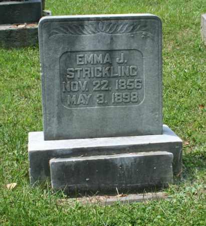 BIGLEY STRICKLING, EMMA JANE - Monroe County, Ohio   EMMA JANE BIGLEY STRICKLING - Ohio Gravestone Photos