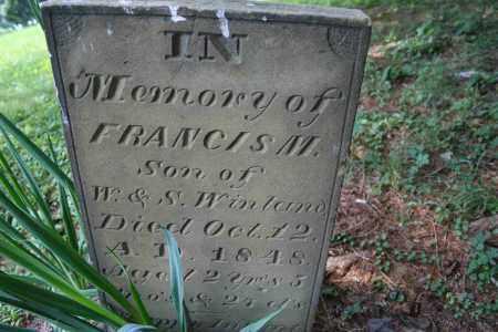 WINLAND, FRANCIS M. - Monroe County, Ohio   FRANCIS M. WINLAND - Ohio Gravestone Photos