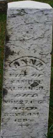 ALBAUGH, ANNA - Montgomery County, Ohio | ANNA ALBAUGH - Ohio Gravestone Photos