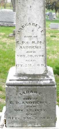 ANDREWS, SARAH E. - Montgomery County, Ohio | SARAH E. ANDREWS - Ohio Gravestone Photos