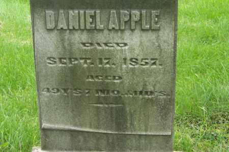 APPLE, DANIEL - Montgomery County, Ohio   DANIEL APPLE - Ohio Gravestone Photos