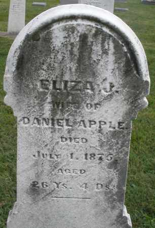 APPLE, ELIZABETH J. - Montgomery County, Ohio   ELIZABETH J. APPLE - Ohio Gravestone Photos