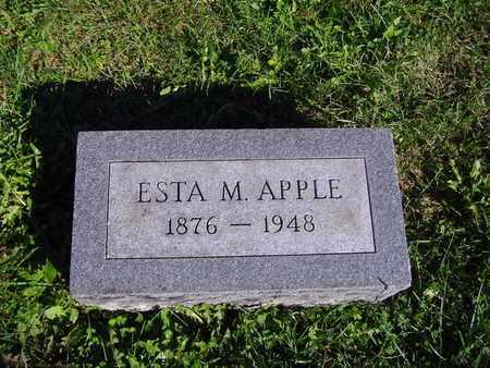 APPLE, ESTA M - Montgomery County, Ohio   ESTA M APPLE - Ohio Gravestone Photos