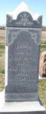 APPLE, EDWIN - Montgomery County, Ohio | EDWIN APPLE - Ohio Gravestone Photos