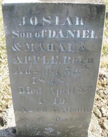 APPLE, JOSIAH - Montgomery County, Ohio | JOSIAH APPLE - Ohio Gravestone Photos