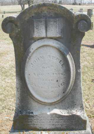 APPLE, JOHN - Montgomery County, Ohio   JOHN APPLE - Ohio Gravestone Photos